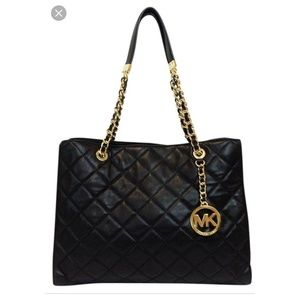 Susannah Large Quilted Leather Michael Kors tote